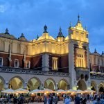Cloth Hall at night, one of the best things to do in Krakow