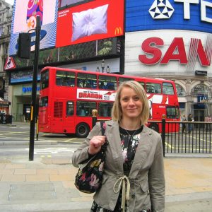 Anna in London after her relocation.