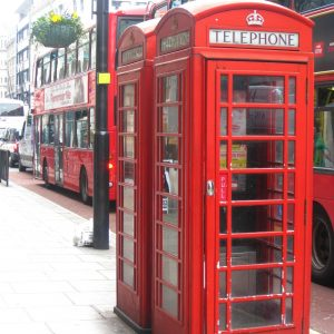 A telephone booth in London after Anna's relocation.