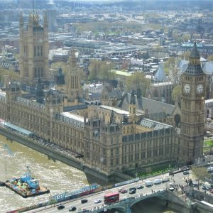 A view of Big Ben from above in London after Anna's relocation.