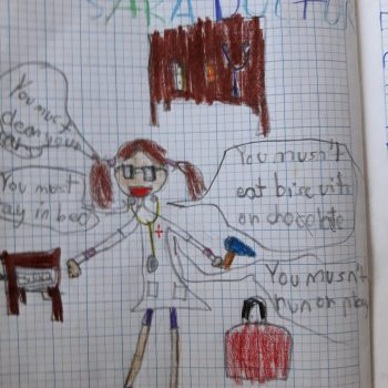 One of the drawings Sarah received while teaching English in Spain