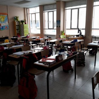 Sarah's classroom.