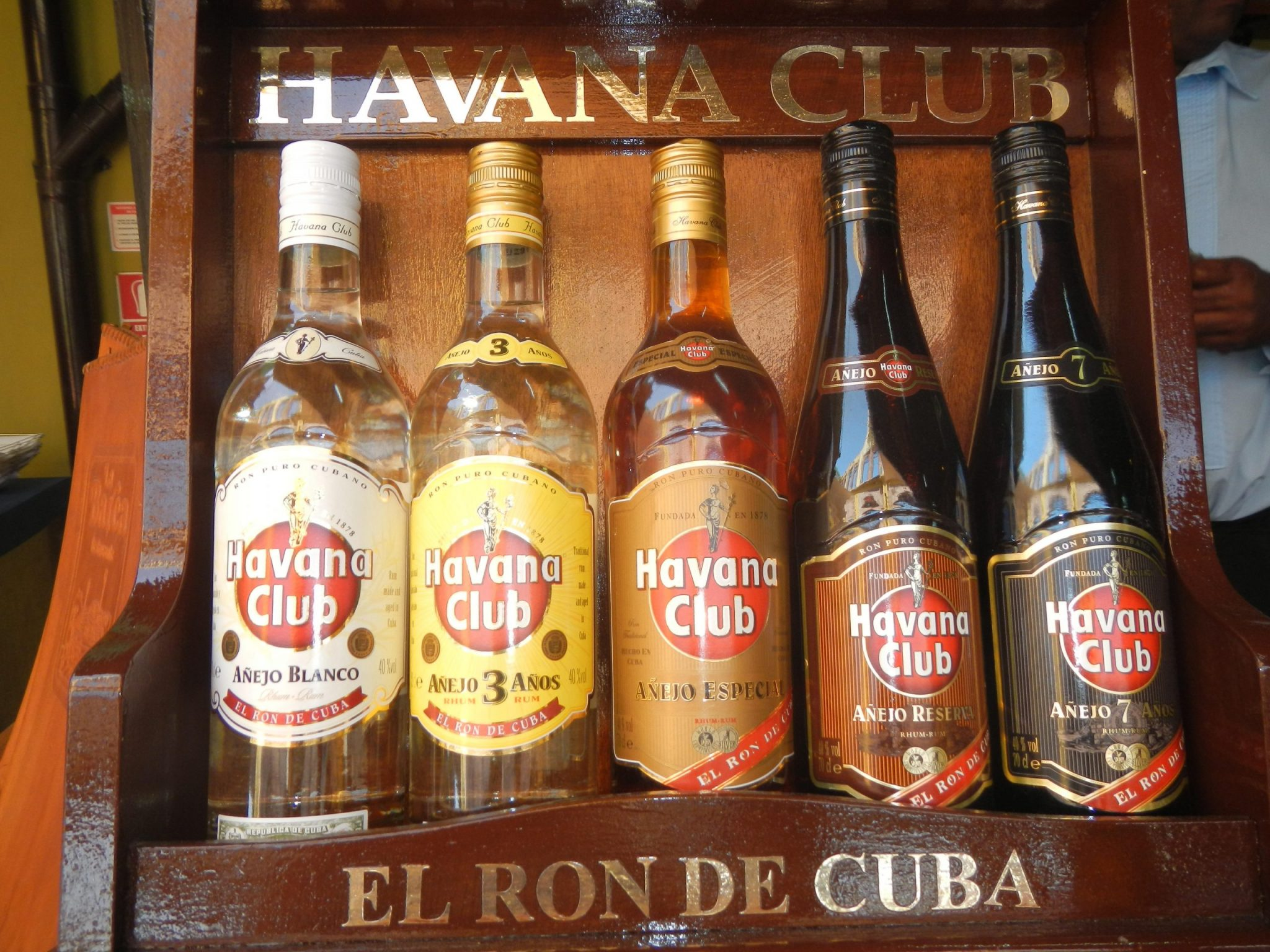 Bottles of rum from the Club Rum Museum