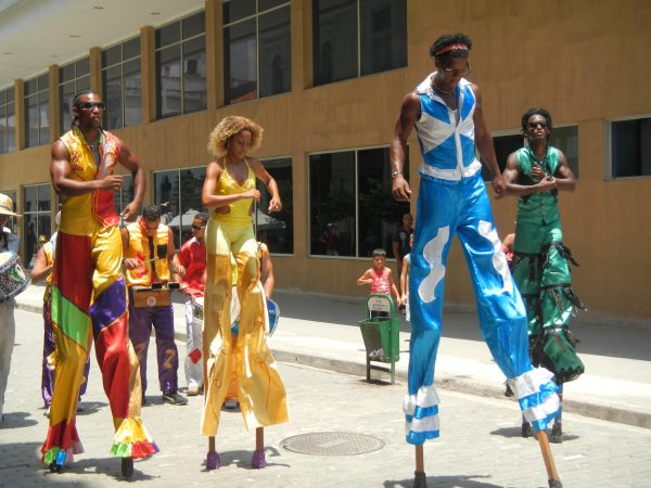 The stilt brigade in Havana, Cuba