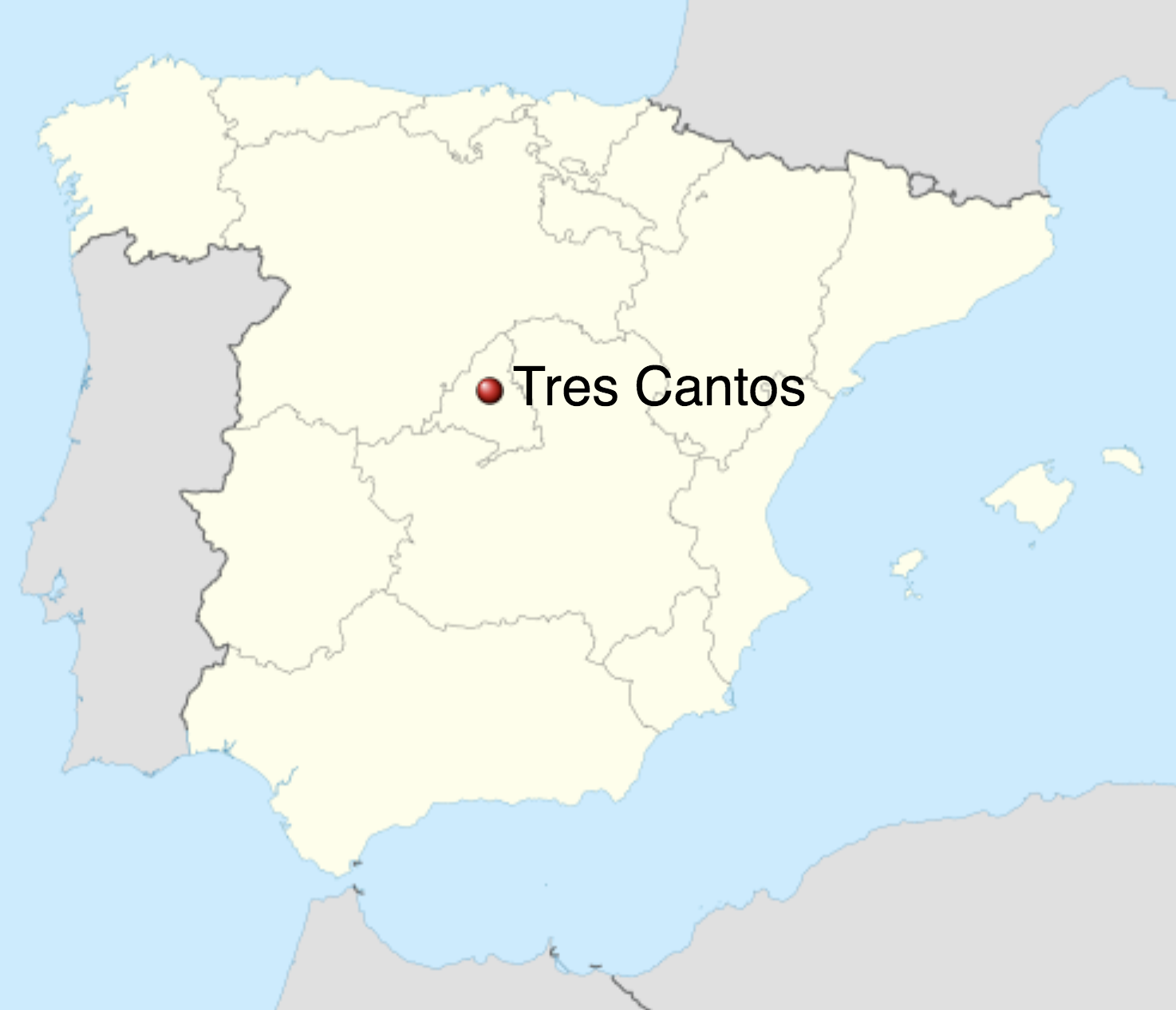 map of tres cantos
