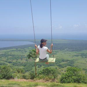 Aura swinging on the Montaña Redonda
