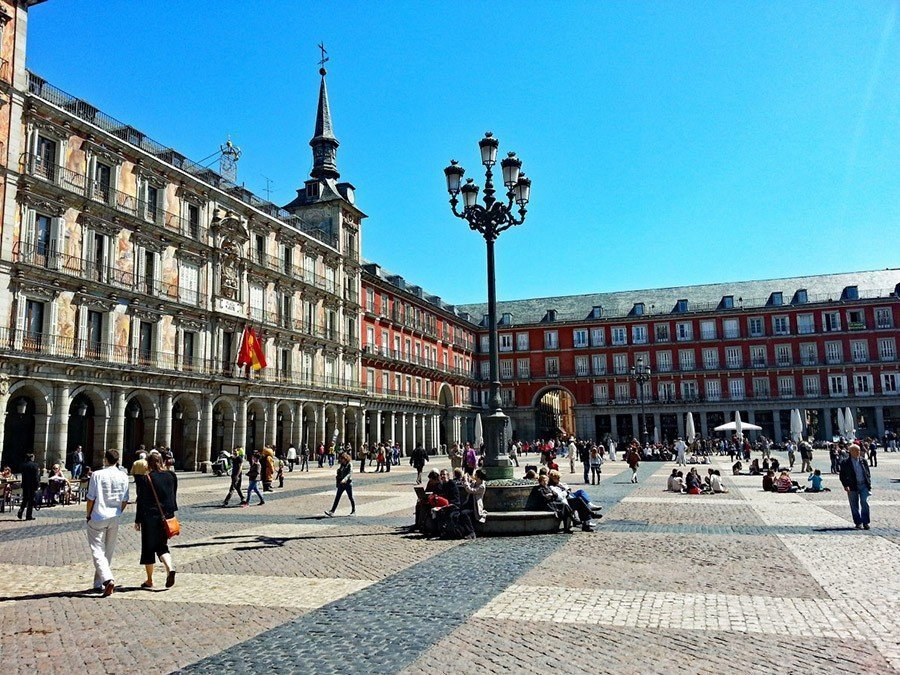 plaza major madrid spain abroad