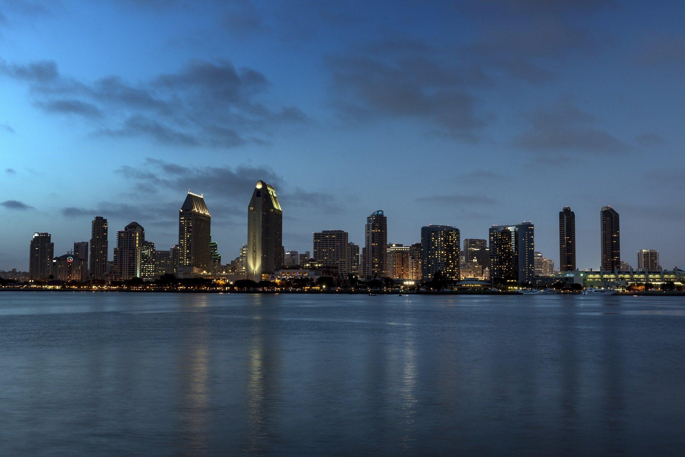 Sunset in San Diego, California.