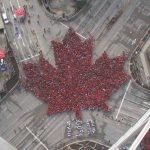 The Canadian Leaf from the sky