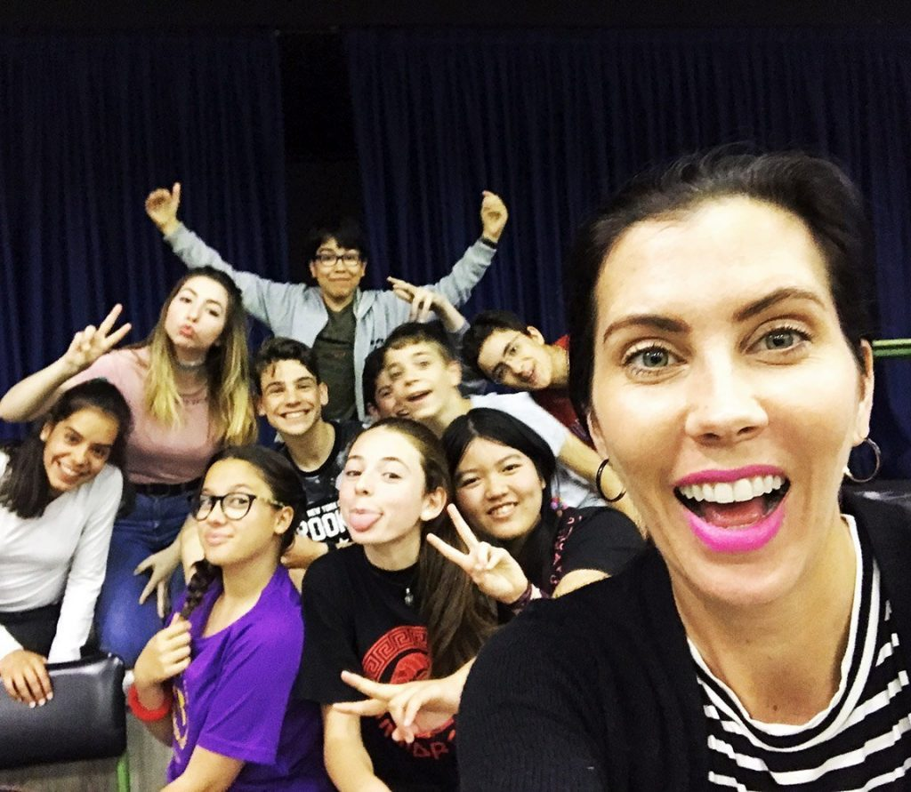 Leesa and her students abroad