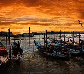 venice, italy boat nature