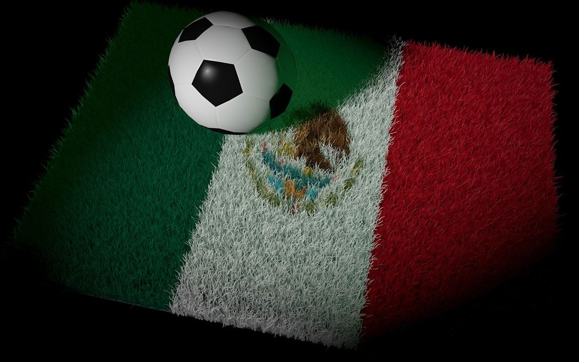 Football-Mexico-soccer-ball-win-flag
