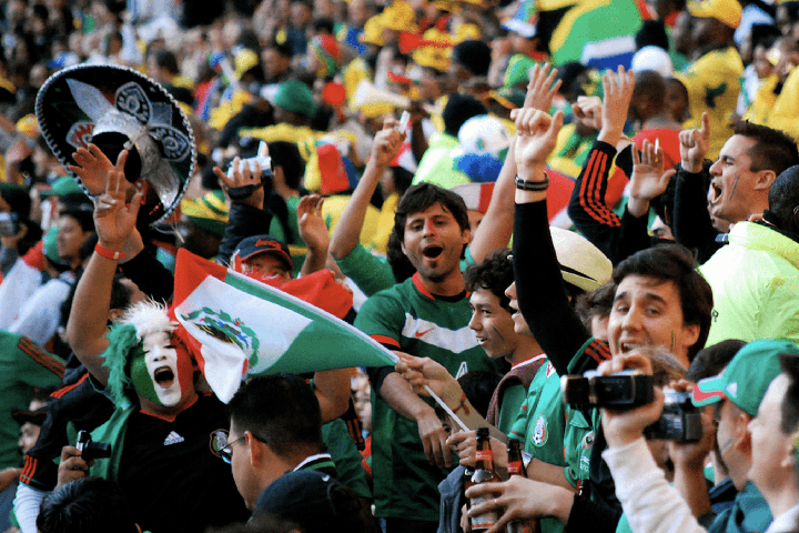 Football victory mexico win world cup cheer fans