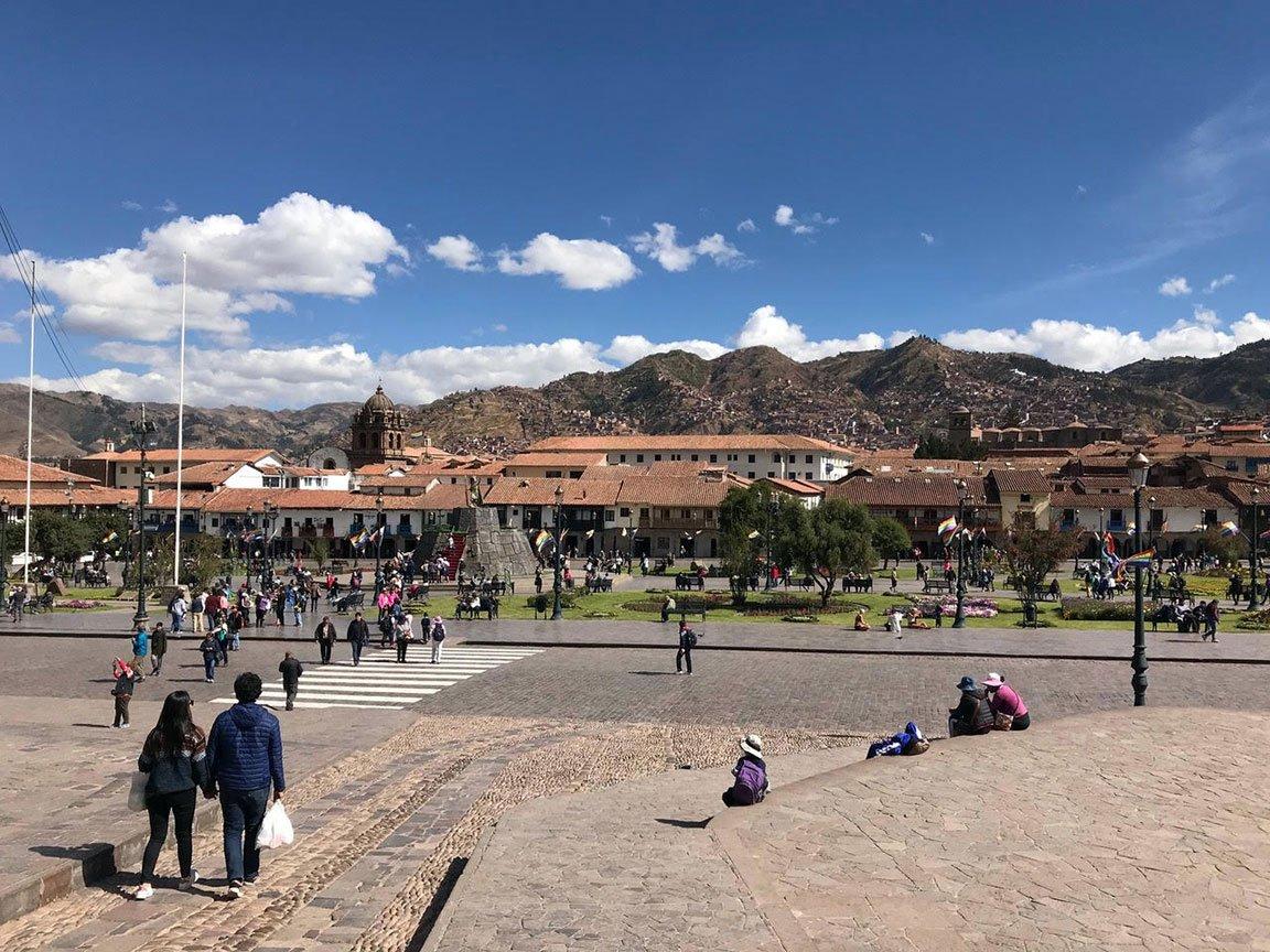 traveling peru plaza abroad walking beautiful