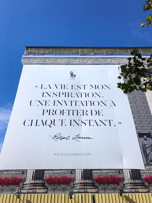 ralph lauren quote fashion week travel