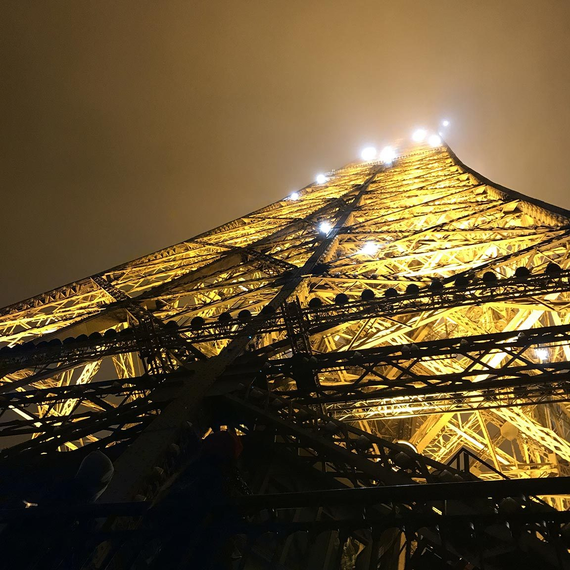 landmark eiffel tower night photo