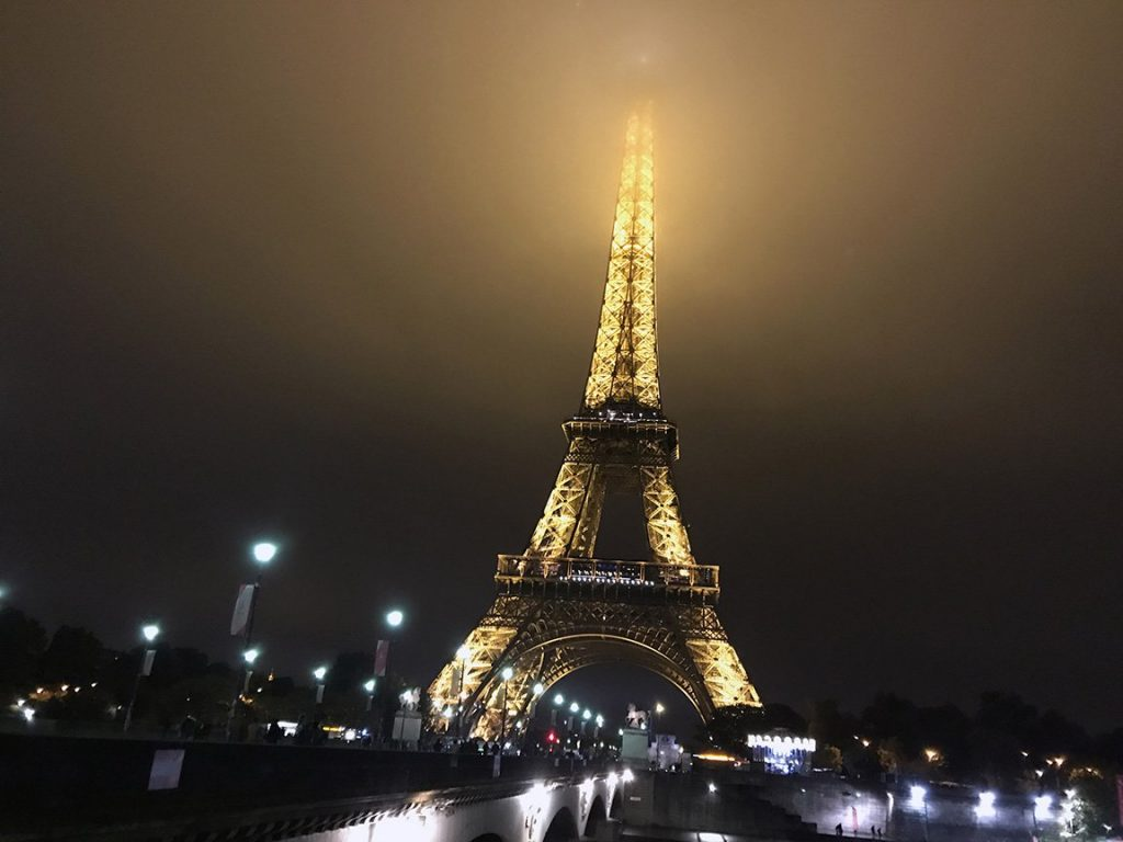 touring the eiffel tower