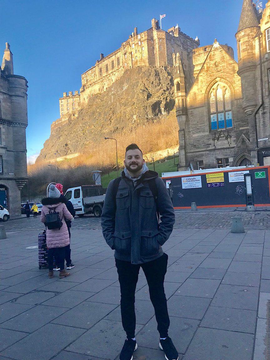 Outskirts of Edinburgh castle