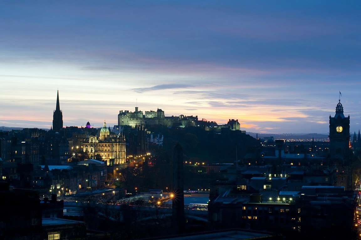 Edinburgh Castle at dusk