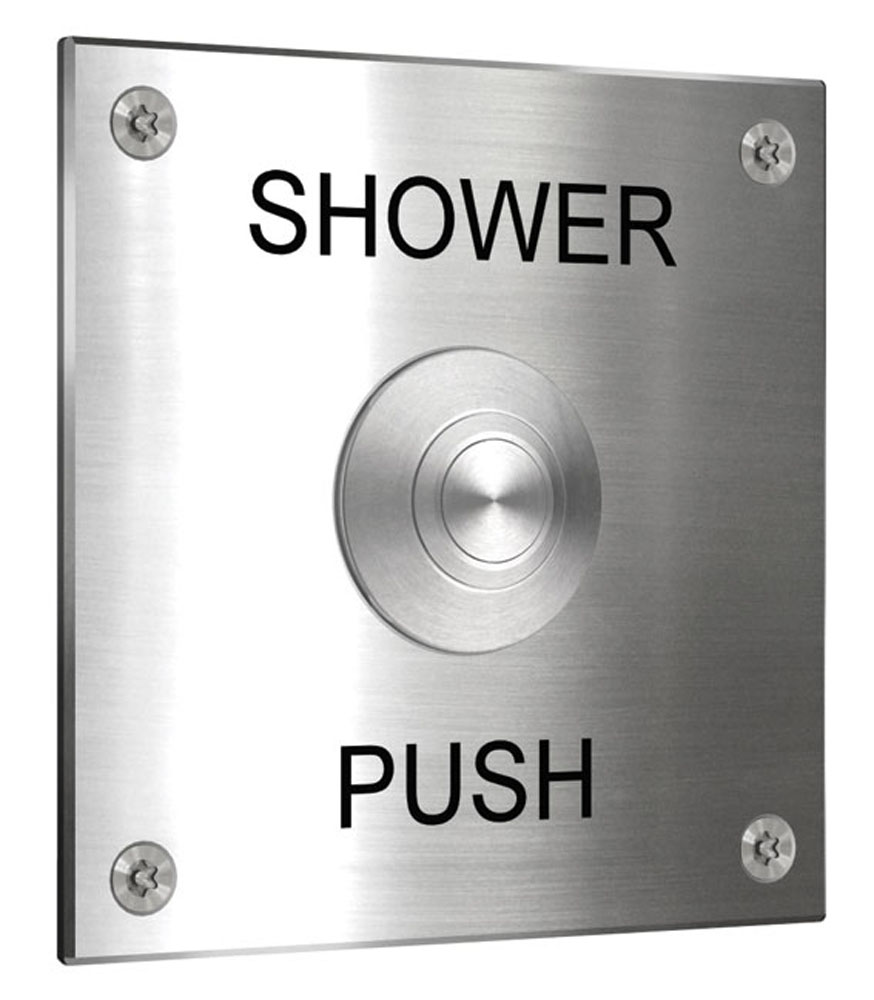 push button shower
