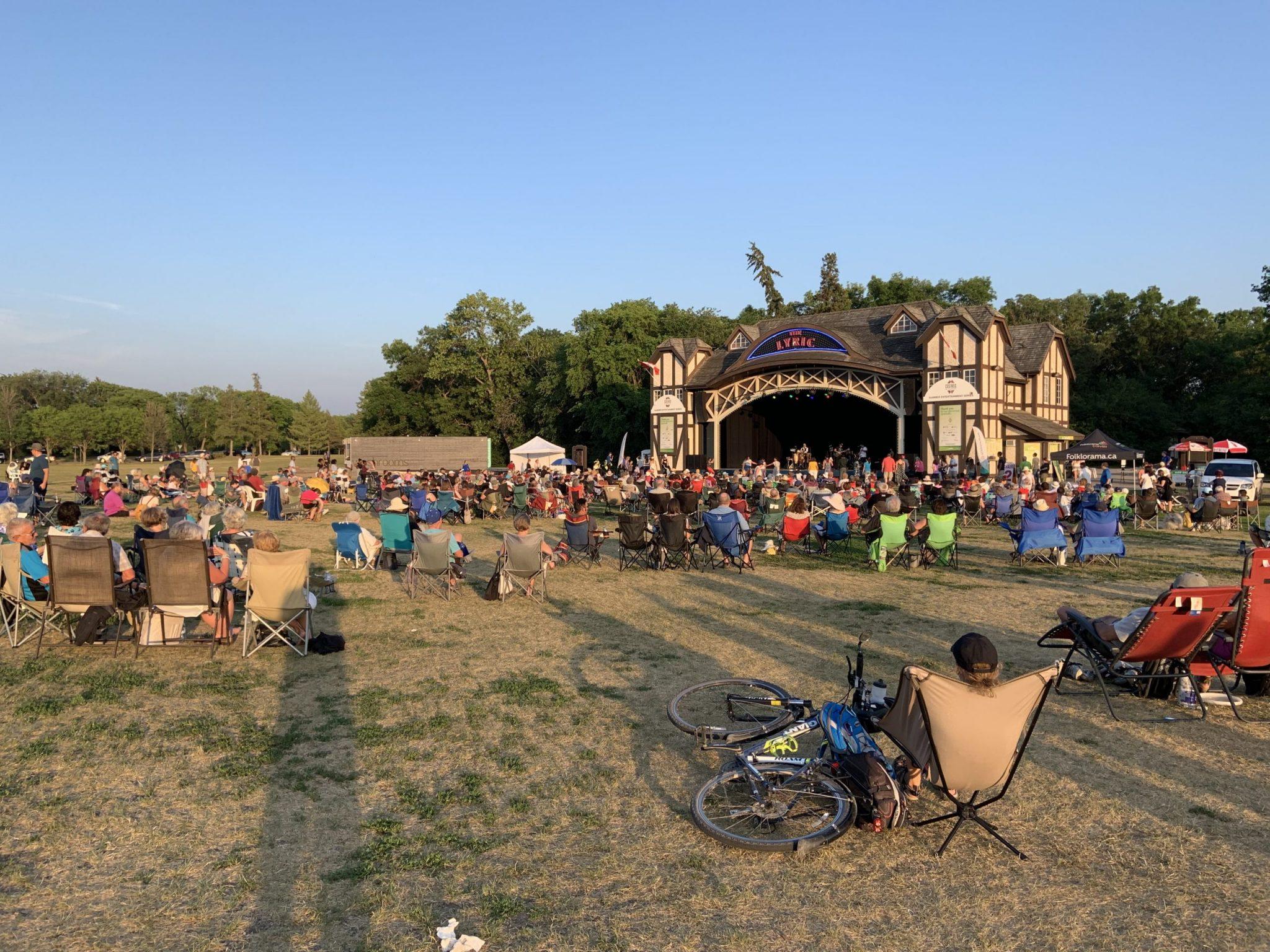 A photo of a summer concert at Assiniboine Park