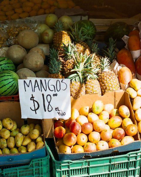A fruit market in San Miguel de Allende, Mexico
