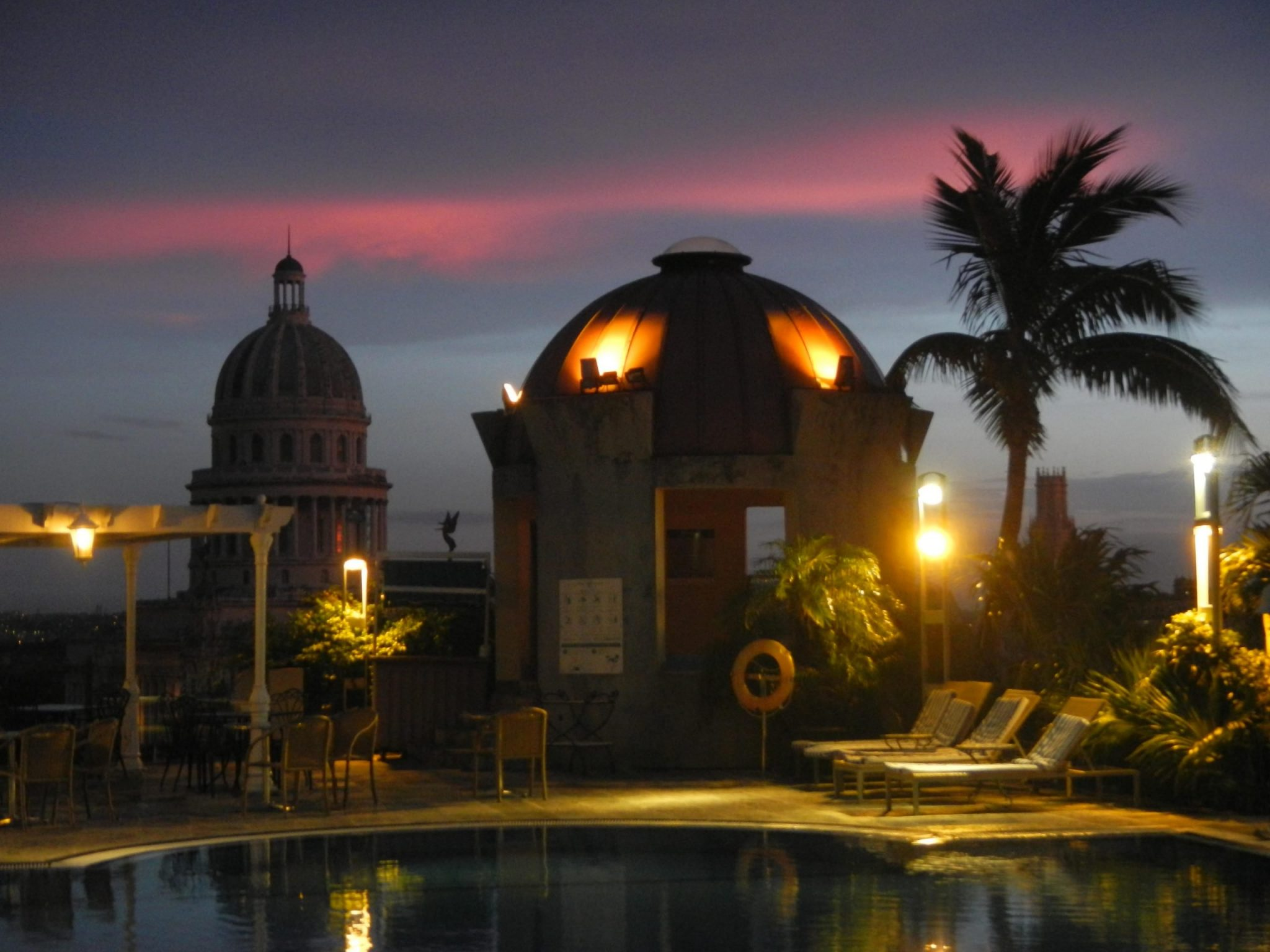 A rooftop bar in Havana, Cuba