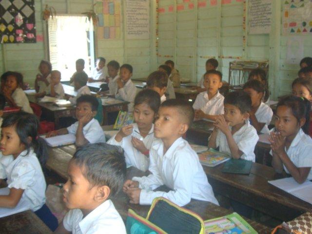 A photo of the local school children