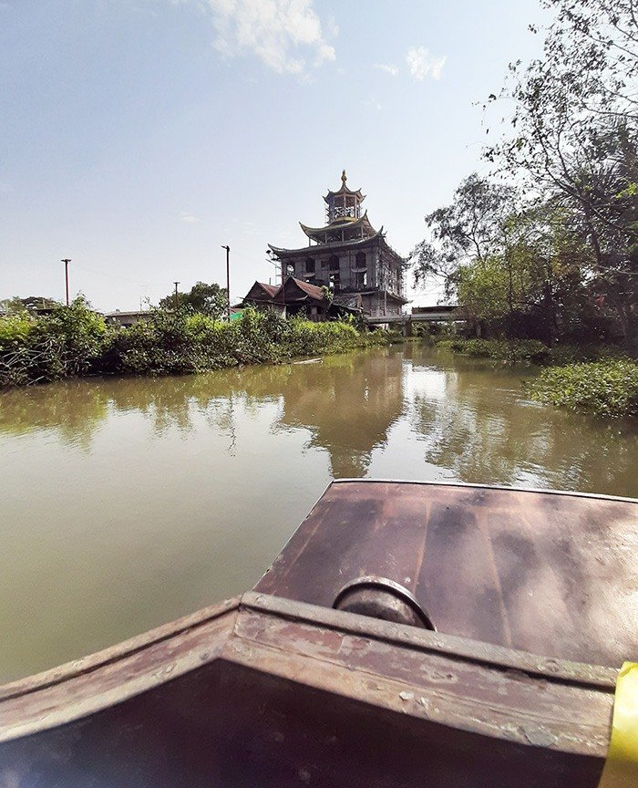 A trip around the khlong-(river) in a longtail boat while Teaching English in Phuket, Thailand