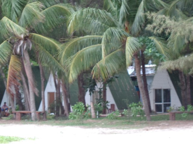 A-frame cottages at Con Dao Camping