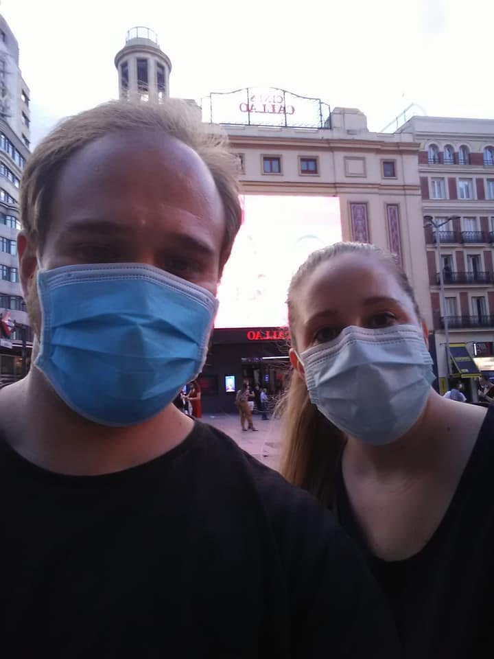 Amanda Whitten and Leganes while Amanda was abroad teaching during a pandemic