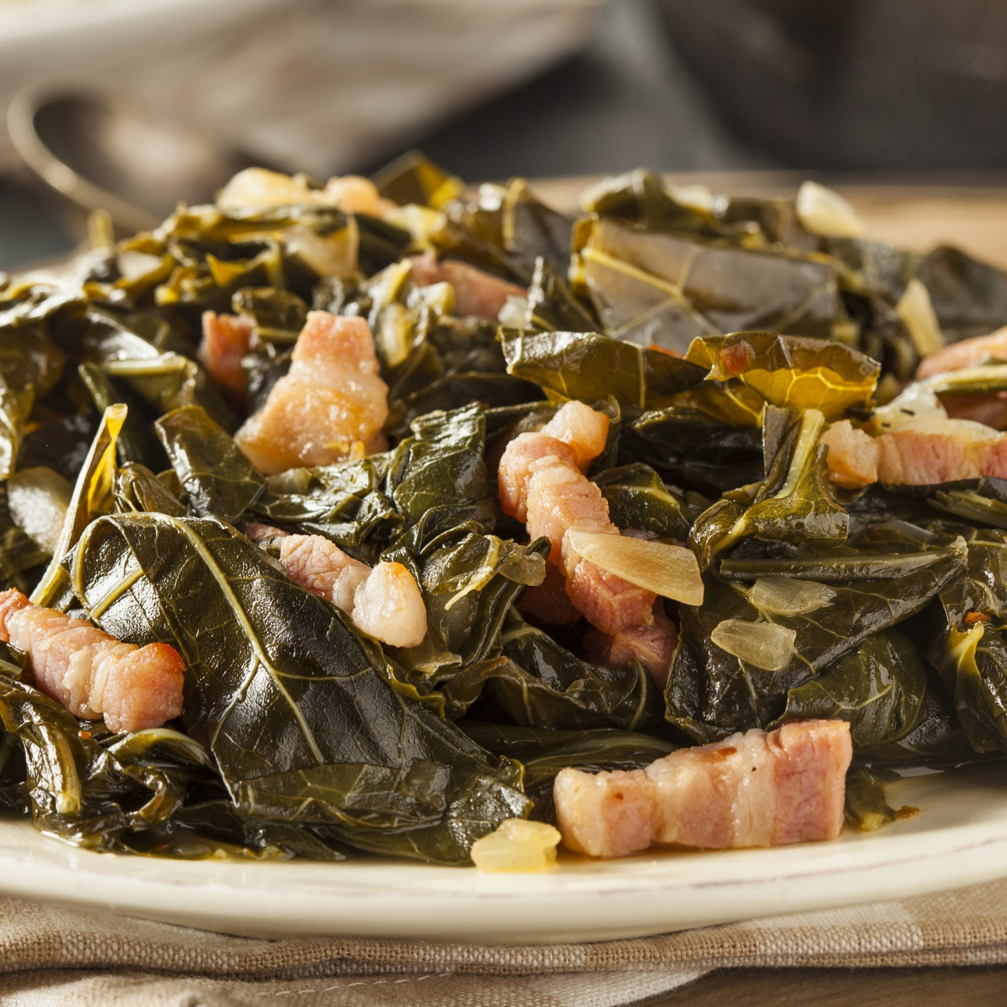 a photo of southern-style collard greens