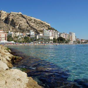 The coastline of Alicante