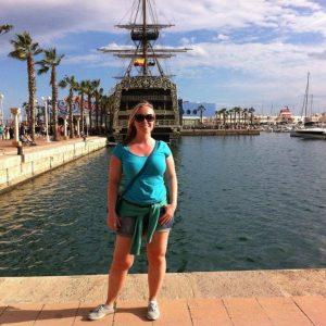 Kristen exploring Alicante