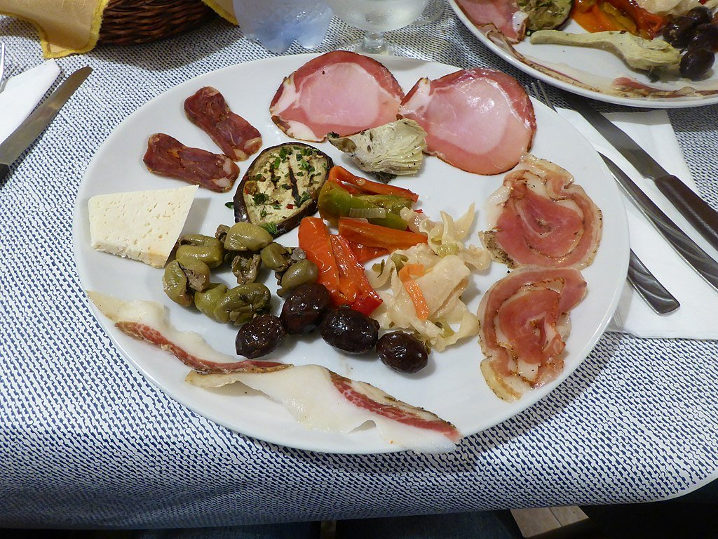 A photo of homemade Calabrese Antipasto