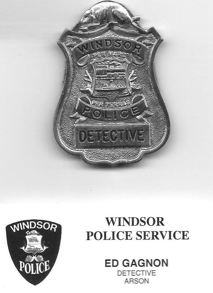 Ed Gagnon's Windor police badge.