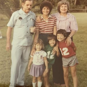 An old photo of Leesa and her family.