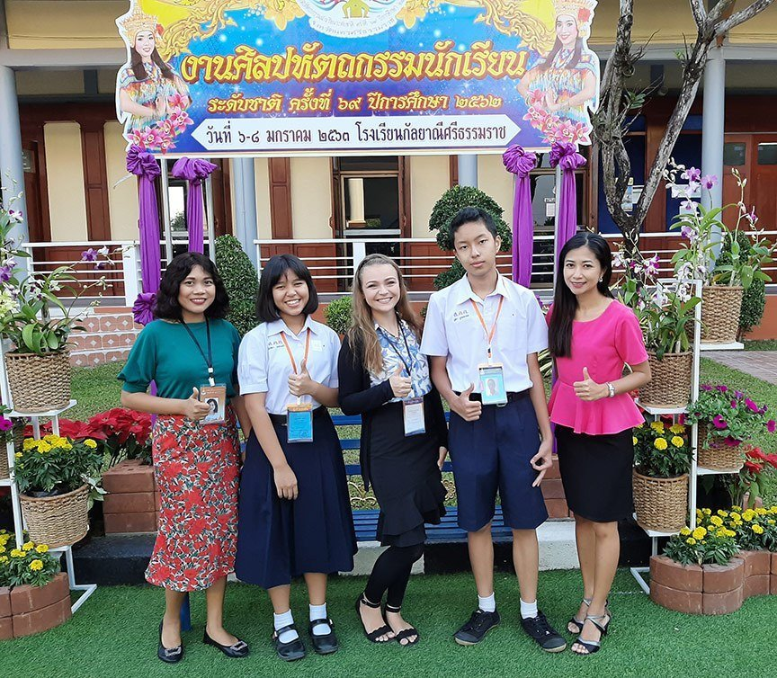 At the Impromptu Speech Competition in Nakhorn Si Thammarat