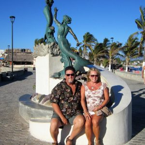 Ed and his wife at Barra Malecon during their vacation in Mexico