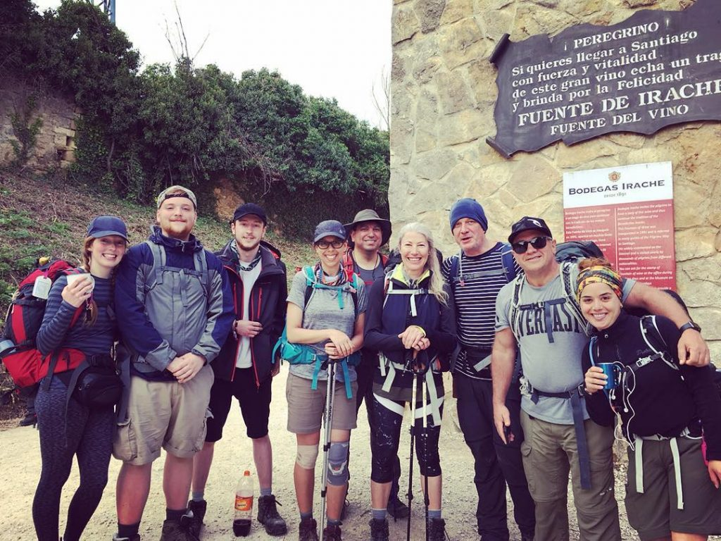 Joe Florez and his hiking the Camino group