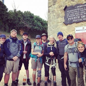 Joe Florez and his hiking the Camino group