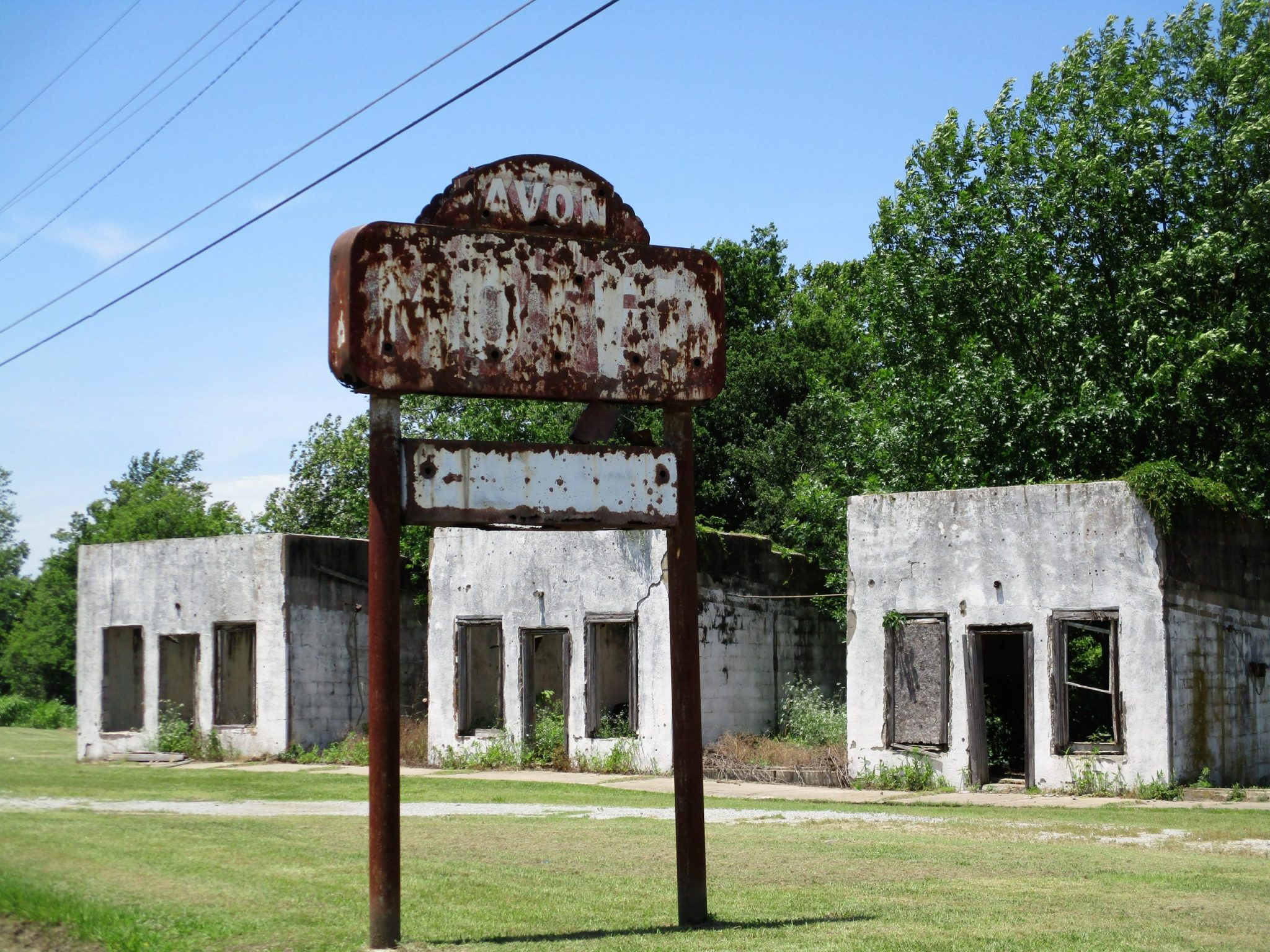 A photo of empty cabins