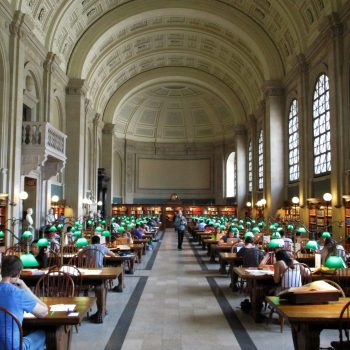 A photo of the Boston Library, one of the best things to do in Boston.