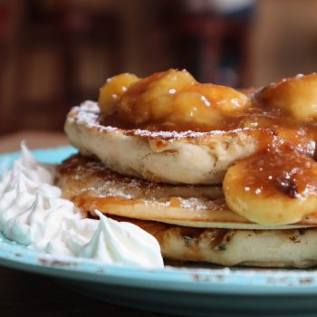 Cafe Marguesa offers delicious banana pancakes