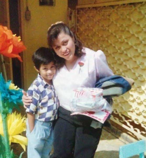Carlos Balbuena and mother