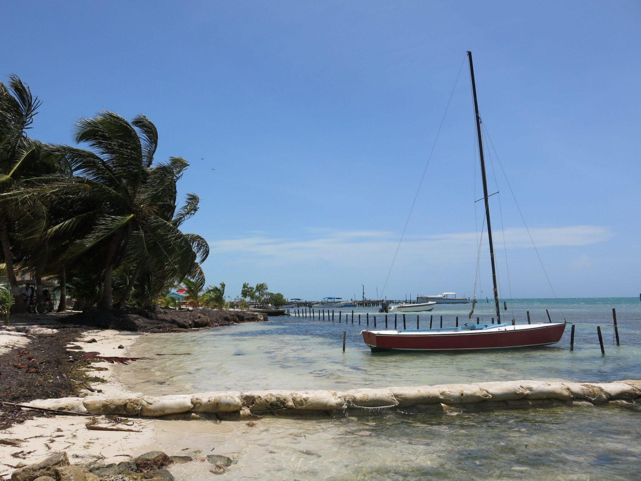 Boat in Caye Caulker