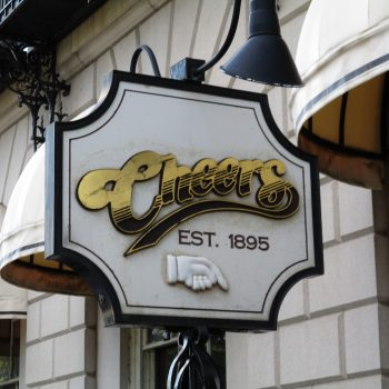 A photo of the Cheers sign.