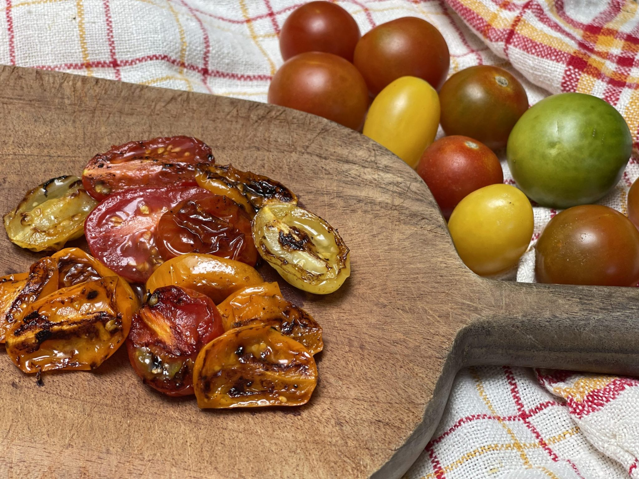 Blistered cherry tomatoes