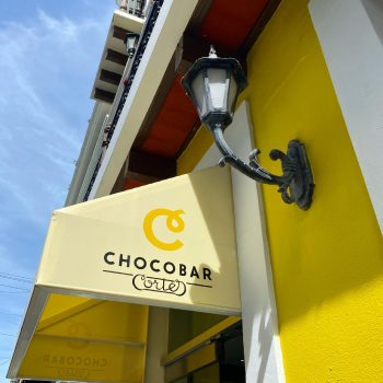 The store awning of Chocobar Cortes, one of the best places to eat in San Juan