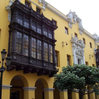 Some Colonial buildings in Lima.